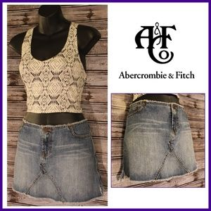 3/30<>Jean Mini Skirt by Abercrombie & Fitch